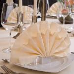 foldede servietter ril dåb
